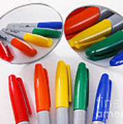 Colorful Markers Poster