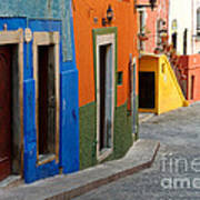 Colorful Street, Mexico Poster