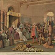 Columbus At Barcelona Poster