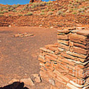 Community Room At Wupatki Pueblo In Wupatki National Monument Poster