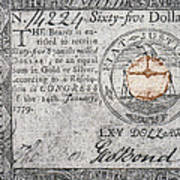 Continental Currency, 1779 Poster