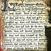 1 Corinthians 13 Love Never Fails Poster