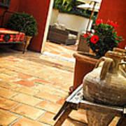 Courtyard Of A Villa Poster by Elena Elisseeva