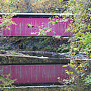 Covered Bridge Along The Wissahickon Creek Poster