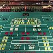 Craps Table At Harrah's Cherokee Casino Resort And Hotel Poster