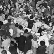 Crowds In Ohrbach's Store Poster