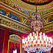 Crystal Chandelier In Dolmabache Palace In Istanbul-turkey  Poster