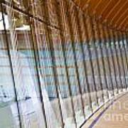 Curved Glass Wall Pattern Poster