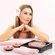 Cute Girl In Spa Salon Poster