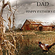 Dad Happy Father's Day Poster