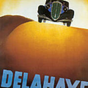 Delahaye Cars - Vintage Poster Poster