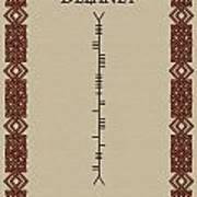 Delaney Written In Ogham Poster