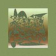 Delicate Green Stroke Poster