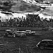 Demolition Derby Rain Storm Clouds Tucson Arizona 1968 Poster
