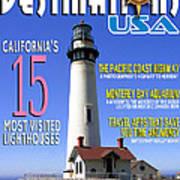 Destinations Usa Faux Magazine Cover Poster