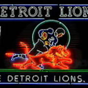 Detroit Lions Football Poster