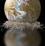 Dissolving Earth Poster