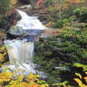 Doanes Falls In Autumn Poster