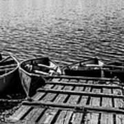 Dock At Island Lake Poster