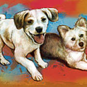 Dog Stylised Pop Modern Art Drawing Sketch Portrait Poster