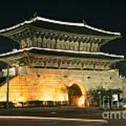 Dongdaemun Gate Landmark In Seoul South Korea Poster