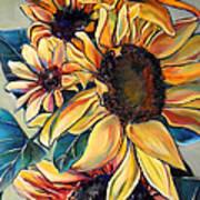 Dooley's Sunflowers Poster