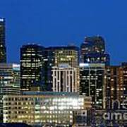 Downtown Denver At Dusk Poster