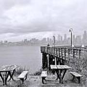 Downtown Seattle As Seen From Alki Beach Poster