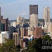 Downtown Skyline Of Pittsburgh Pennsylvania Poster