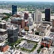 Downtown Skyline Of Toledo Ohio Poster