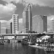 Downtown Tampa Skyline From Davis Islands Poster