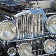 Duesenberg Front Chrome Automobile Grille Poster
