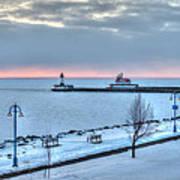 Duluth Winter Sunrise  Poster