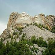Dusk At Mount Rushmore Poster
