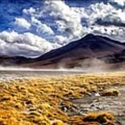 Dusty Desert Road Bolivia Poster