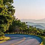 Early Morning Sunrise Over Blue Ridge Mountains Poster