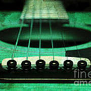 Edgy Abstract Eclectic Guitar 15 Poster by Andee Design