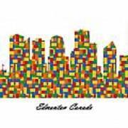 Edmonton Canada Building Blocks Skyline Poster