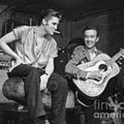 Elvis Presley and his cousin Gene Smith 1956 Poster