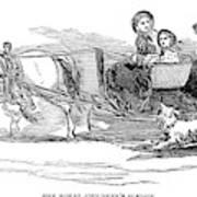 England Royal Sledge, 1854 Poster