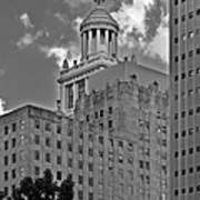 Esperson Buildings Houston Tx Poster