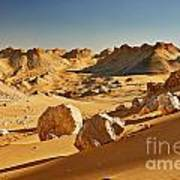 Expressive Landscape With Mountains In Egyptian Desert  Poster