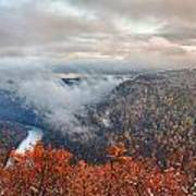 Fall Snow Coopers Rock Poster