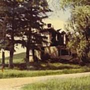 Farmhouse Landscape Poster