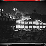 Film Homage Chris Marker La Jetee 1962 Winter Fire Collage Aberdeen South Dakota 1965-2013 Poster