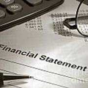 Financial Statement On My Desk Poster