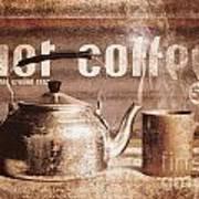 Fine Art Coffee Shop Tin Sign Insignia Poster