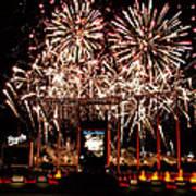 Fireworks At Kauffman Stadium Poster