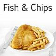 Fish And Chips Poster by Colin and Linda McKie
