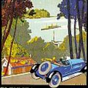 Fleuves De La Galice Automobile Poster